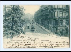 XX002622/ Hamburg Eimsbüttel Bismarckstraße Straßenbahn 1902 AK
