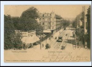XX002695/ Hamburg Eimsbüttel Eimsbütteler Chaussee Straßenbahn AK 1903