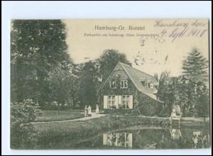 XX002613/ Hamburg Groß Borstel Parkpartie am Schulweg 1910 AK