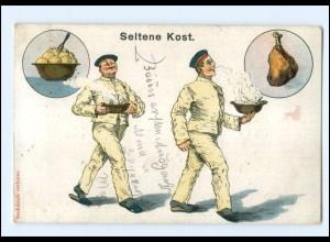 Y10693/ Militär Humor AK Seltene Kost - 1907