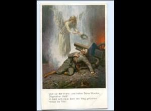Y10552/ Verwundeter Soldat Engel 1. Weltkrieg AK