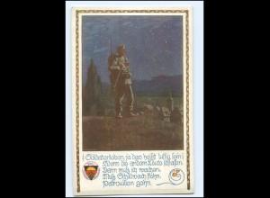 Y10553/ 1. Weltkrieg AK Deutscher Schulverein Nr. 663 Soldaten hält Wache