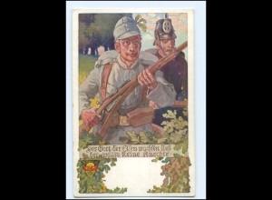 Y10555/ 1. Weltkrieg AK Deutscher Schulverein Nr. 669 Soldaten mit Gewehr