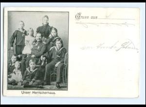 Y10687/ Kaiser Wilhelm mit Familie Unser Herrscherhaus AK ca.1905