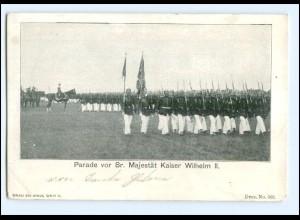 Y10690/ Kaiser Wilhelm Parade AK ca.1905