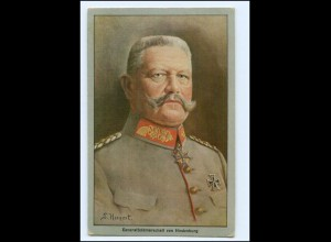 Y10701/ von Hindenburg Künstler Ak 1915