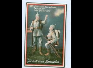 Y10506/ Ich hatt` einen Kameraden Soldaten 1. Weltkrieg AK 1917