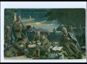 Y10503/ Des Königs-Grenadiere Soldaten 1. Weltkrieg AK ca.1914