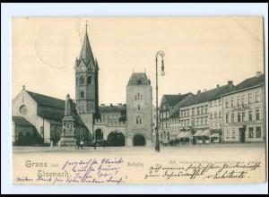 Y10442/ Gruß aus Eisenach Karlsplatz 1900 AK