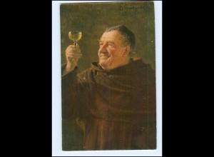 Y10533/ Ein guter Tropfen - Wein - Künstler AK Ed. Grützner ca.1912