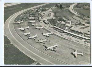 U4144/ Flughafen Zürich-Kloten Flugzeuge AK ca.1965