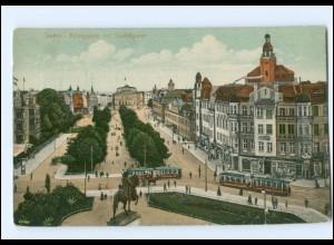 XX002790/ Stettin Königsplatz Straßenbahn Pommern AK ca.1912