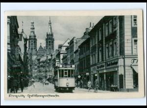 XX002741/ Liegnitz Goldbergerstr. Straßenbahn AK 1941