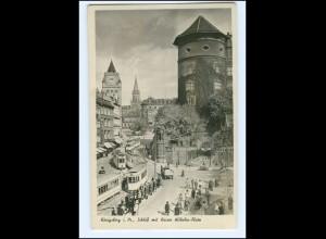 XX002789/ Königsberg Kaiser Wilhelm-Platz Straßenbahn Foto AK 1942