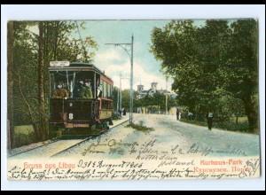 XX002748/ Libau Straßenbahn AK Lettland 1906