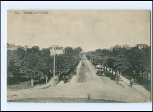 XX002749/ Libau Kurhausprospekt Straßenbahn AK Lettland ca.1912