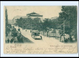 XX002751/ Posen Wilhelmsplatz Straßenbahn AK 1901