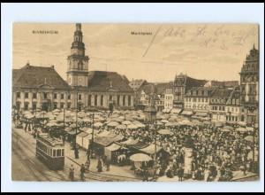 XX002783/ Mannheim Marktplatz Straßenbahn AK 1924