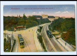 XX002782/ Mannheim Straßenbahn Eisenbahn AK 1919