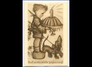 XX002792/ Hummel AK Dackel ca.1940 Junge mit Kuchen