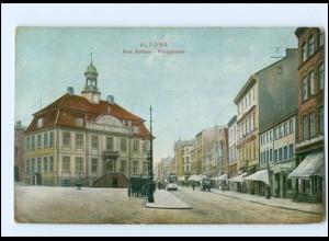 XX002907/ Hamburg Altona Straßenbahn Königstraße AK ca.1910