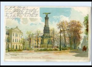 XX002937/ Hamburg Altona Palmaille mit Sieges-Denkmal Litho Ak 1899