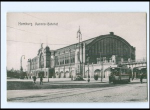 XX004082/ Hamburg Dammtor-Bahnhof Straßenbahn AK ca.1912