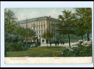 XX003779/ Hamburg Eimsbüttel Marktplatz Straßenbahn AK 1907