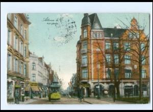 XX003739/ Hamburg Altona Königstraße Straßenbahn AK 1912