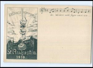 U4165/ St. Augustin Abgangs-Kommers Studentika AK 1910