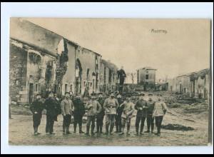 Y10635/ Muzeray zerstört 1. Weltkrieg Frankreich AK 1916