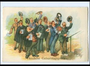 U4181/ Arthur Thiele AK Männer singen Geburtstag 1935