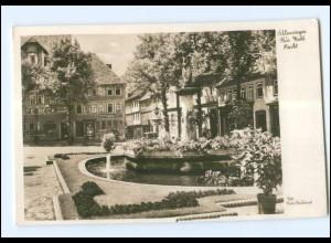 U4219-985./ Schleusingen Thür. Markt Foto AK 1942