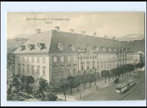 XX003076/ Bad Warmbrunn Riesengebirge Straßenbahn AK 1914