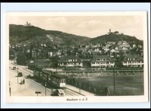 XX004309-6940/ Weinheim Straßenbahn Foto AK ca.1938