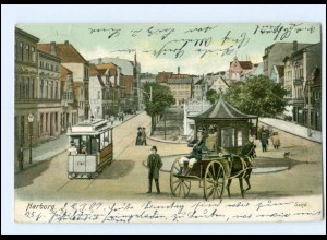 XX004312/ Hamburg Harburg Sand Straßenbahn AK 1907