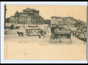 XX14700/ Dresden Theaterpalaz Pferdebahn AK 1898