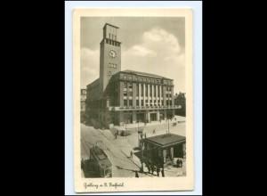XX003154/ Gablonz a. N. Rathaus Straßenbahn Foto AK ca.1940