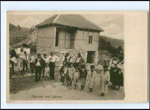 U4264/ Zigeuner in Lukovo Kroatien Sinti ca.1915 AK