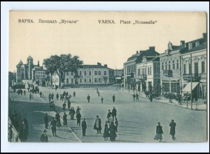 U4310/ Varna Warna Place Moussalla Bulgarien AK ca.1914