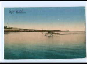U4308/ Varna Warna Wasserflugzeug Hafen Bulgarien AK ca.1914