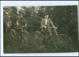U4272/ Fahrrad Radfahrer Privat Foto AK ca.1925