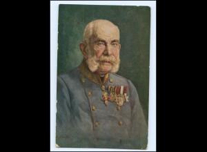 Y10715/ Kaiser Franz Josef 1916 Trauer AK