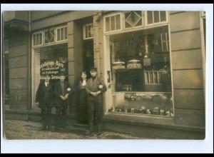U4357/ Geschäft Installation-Büro Johann Janssen Foto AK ca. 1920 Ort?