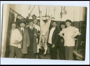 U5671/ Berufe Schlachter Privat Foto AK ca.1912
