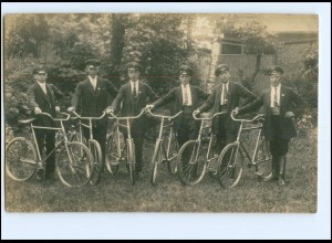 U4353/ Fahrrad Radfahrer sschöne Foto AK ca.1925