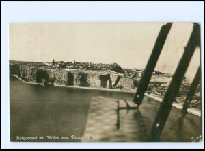 U4331/ Helgoland vom Flugzeug aus Foto AK 1922