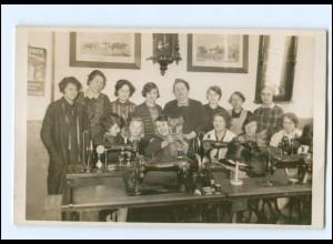 U4355/ Frauen mit Naumann-Nähmaschinen Foto AK ca.1925
