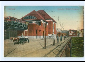 XX008832/ Hamburg Bahnhof Mundsburg AK 1913