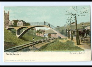 XX003472-084./ Reichenbach Am unteren Bahnhof ca.1900 AK